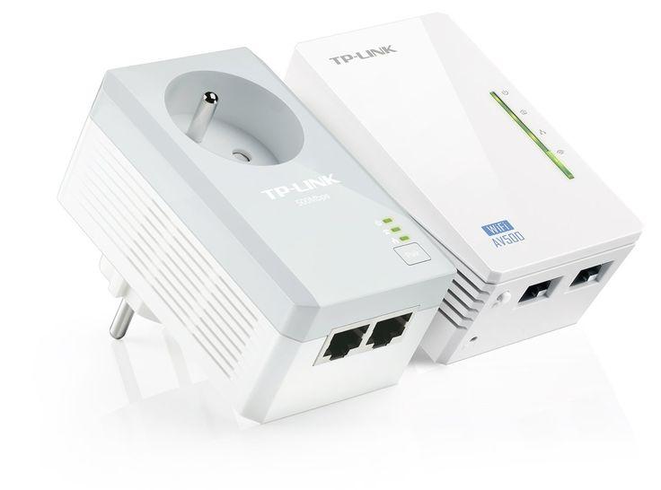 TP-LINK TL-WPA4225KIT AV500 WiFi 300Mbps Pack de 2 Adaptateurs CPL (2 Ports Ethernet, Prise Intégrée): Amazon.fr: Informatique