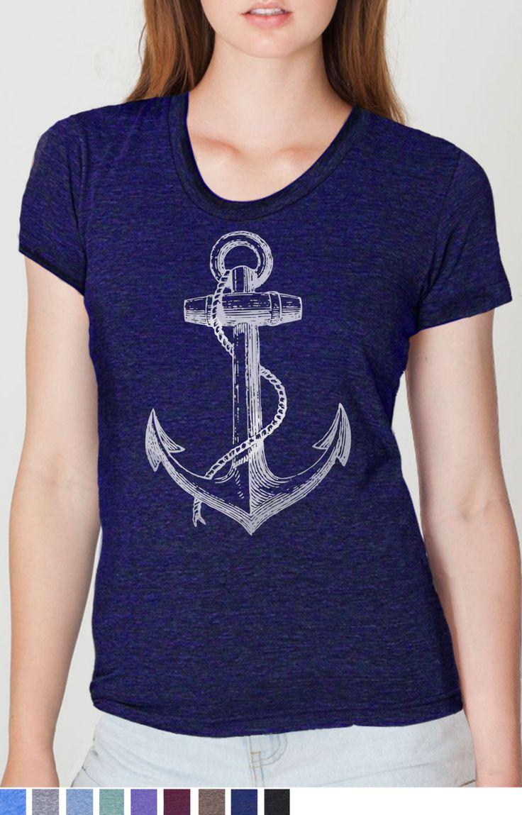 Anchor t shirt - SKIP N' WHISTLE NEW ORLEANS