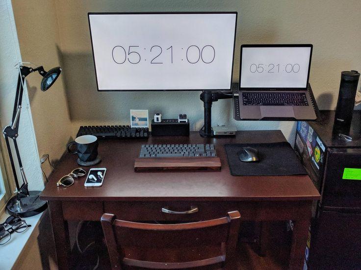 Desk Setup Home Office Setup Home Office Design Gaming Room Setup
