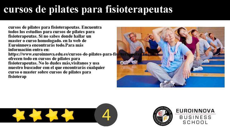 cursos de pilates para fisioterapeutas - cursos de pilates para fisioterapeutas. Encuentra todos los estudios para cursos de pilates para fisioterapeutas. Si no sabes donde hallar un master o curso homologado. en la web de Euroinnova encontrarás todo.    Para más información entra en: https://www.euroinnova.edu.es/cursos-de-pilates-para-fisioterapeutas.    Te ofrecen todo en cursos de pilates para fisioterapeutas. No lo dudes másvisítanos y usa nuestro buscador con el que encontrarás…