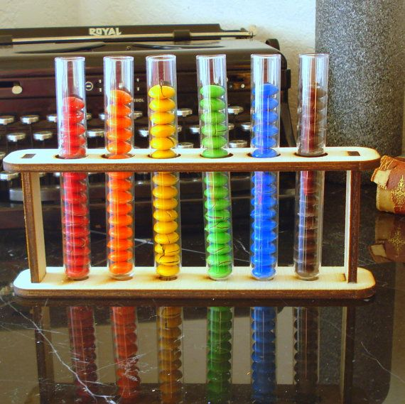 6 custom test tubes and holder as seen in Food by EtchedinTimeLLC, $18.00