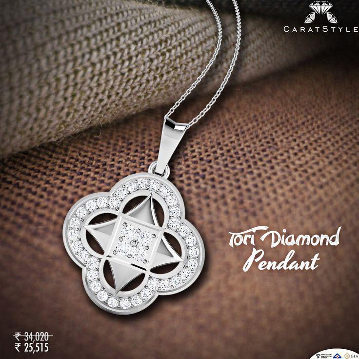 Beauty has many forms, daring #diamonds suit you best.#pendant #diamondpendant…