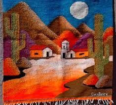 Resultado de imagen para tapices con paisajes bordados