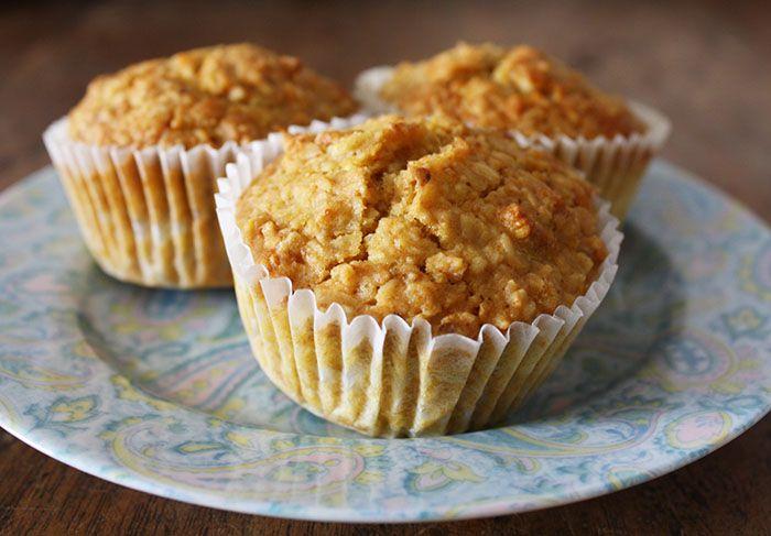 Muffin di fiocchi d'avena all'arancia a basso indice glicemico マフィンオートミールオレンジ 低血糖インデックス
