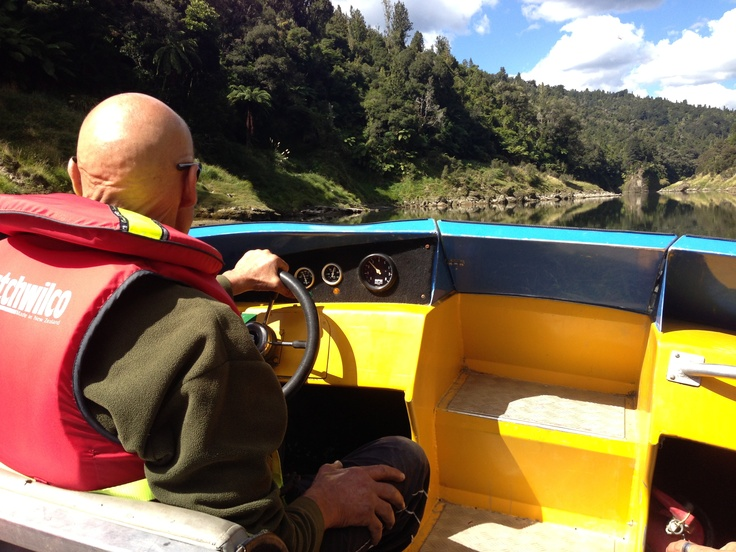 Joe - owner, jet-boat driver and all round bloody good dude at the Bridge to Nowhere Lodge
