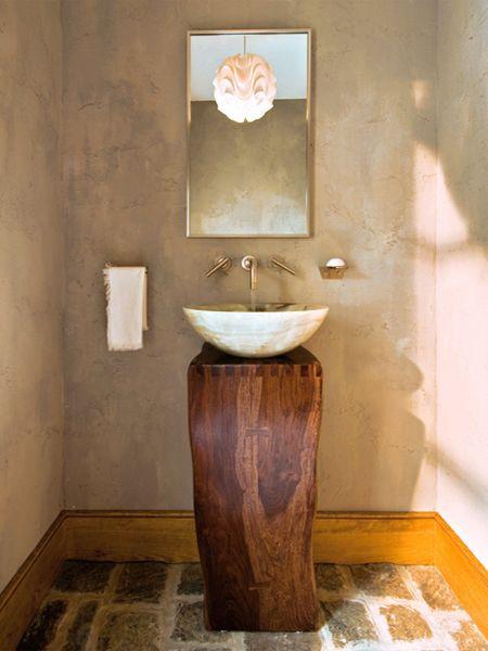Designer Gorgeous Stunning Bathroom Powder Room Guest Toilet