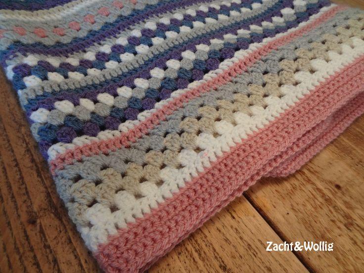 NOW deken, handgemaakt, haken, Stylecraft