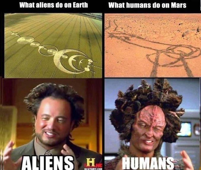 (Ce que les aliens font sur Terre, ce que les humains font sur Mars)