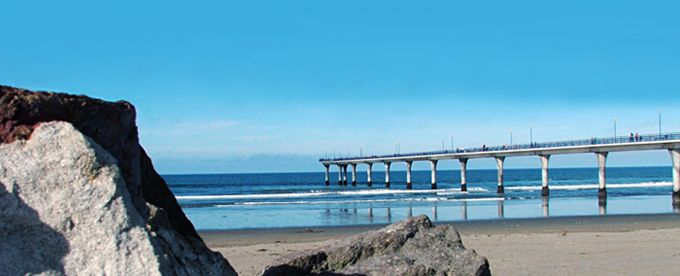 New Brighton Pier, Christchurch, New Zealand.