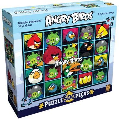 Quebra-Cabeça 500 Peças - Angry Birds - Grow