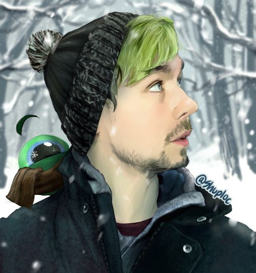 shuploc: JackSepticEye winter fan art! ;D <<<THIS IS GORGEOUS ARTWORK, WELL DONE