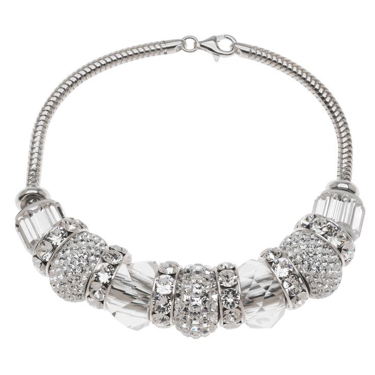 Diy: European Style Swarovski Crystal April Birthstone Bracelet