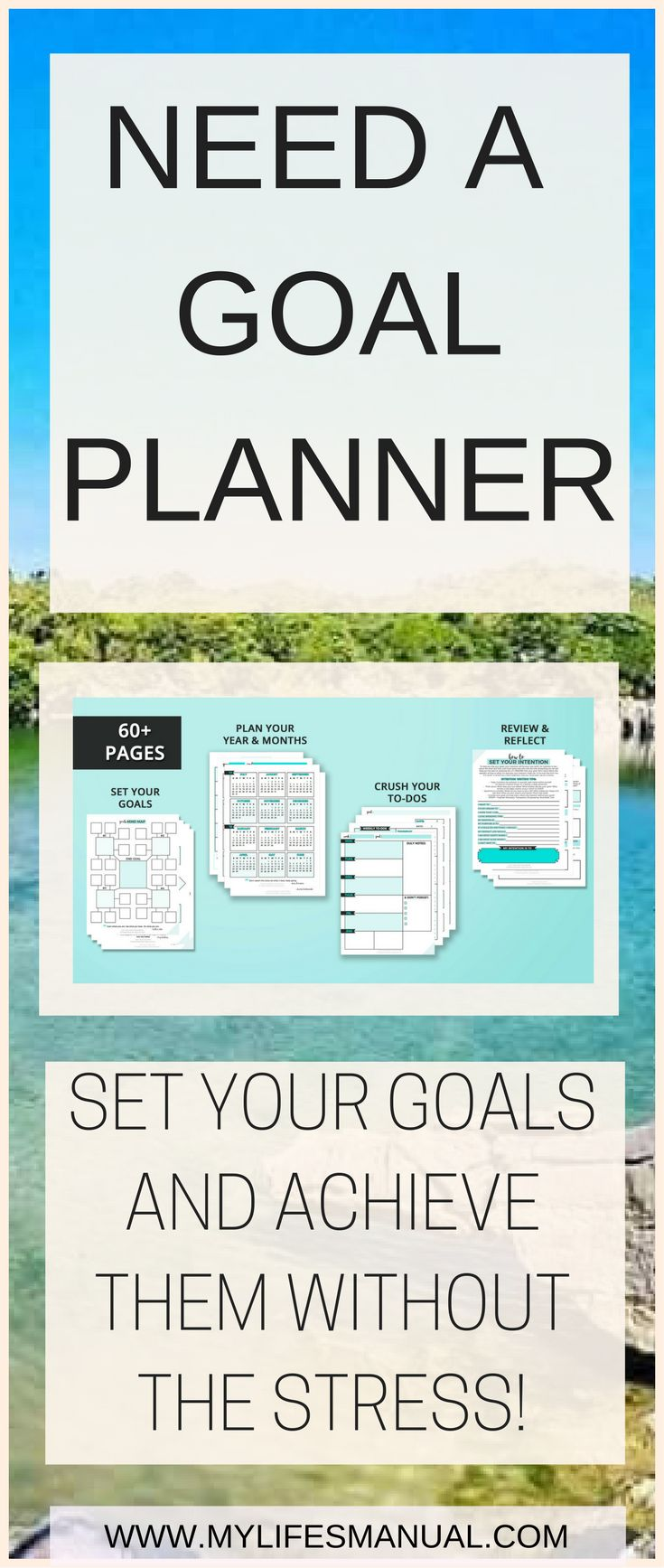 Looking for a planner for your personal and business goals? Slay Your Goals planner is for you. Set goals and achieve them without the stress and overwhelm. #goals #planner aff link