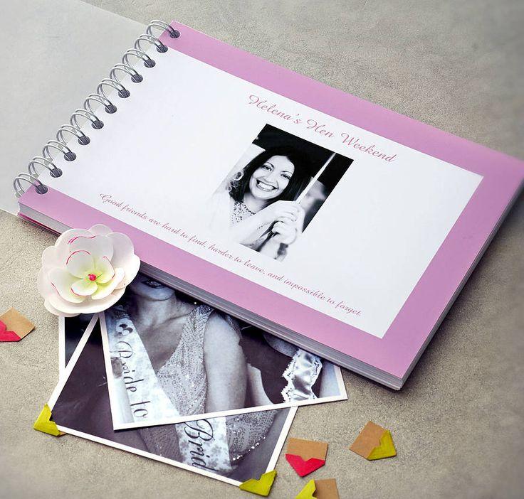 personalised hen night book by amanda hancocks | notonthehighstreet.com