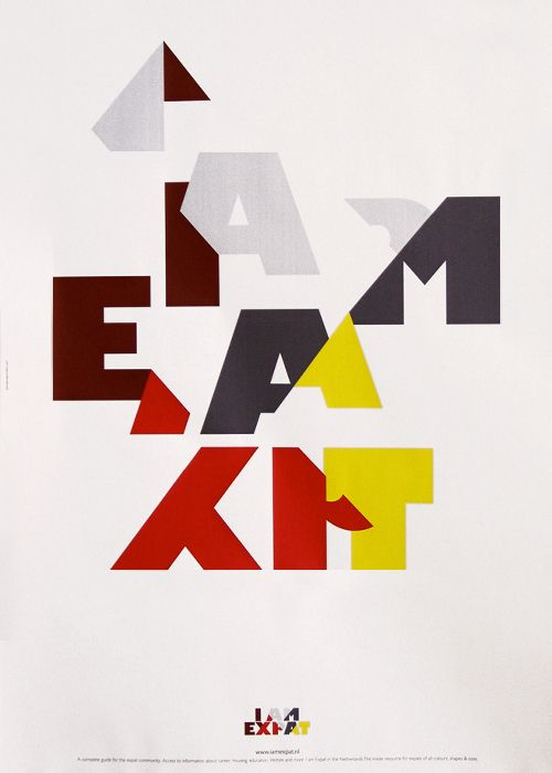 IamExpat Poster, Georgiou Gavrilakis, 2010