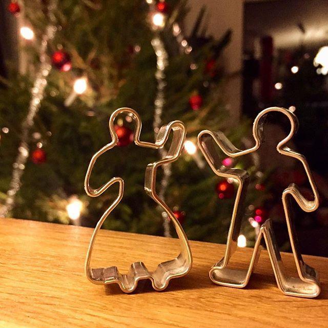 Dessa små handgjorda pepparkaksformar i silver blev någons överraskande julklapp…