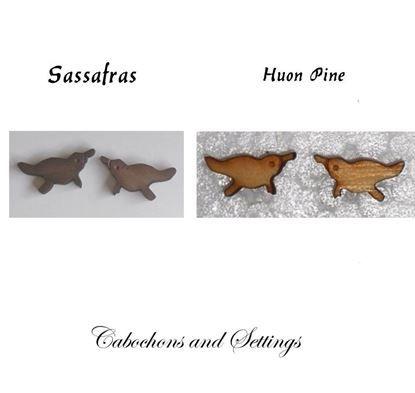 Show details for Platypus Huon Pine or  Sassafras Wooden Laser Cut native Animals / Birds Cabochons
