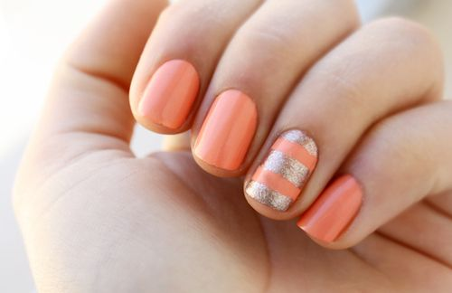 salmon and gold    @Rebecca Divers - Pretty please do this for me?