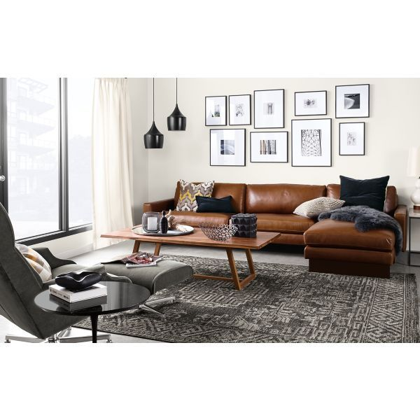 K   Love Sofa Shape And Color Living   Room U0026 Board. Leather Chaise  SofaBrown ...