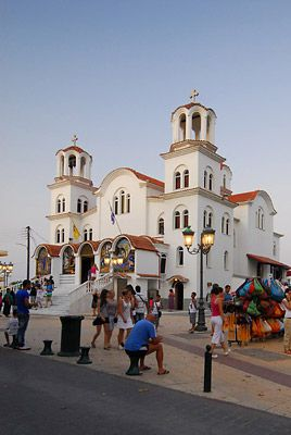 Church in Paralia, Greece