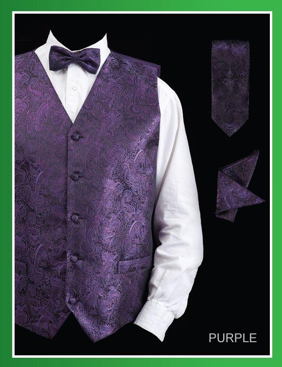 Daniel Ellissa Men's 4 Piece Vest Set - Paisley Design
