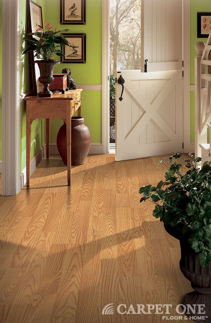 Laminate is a great durable option for entryway flooring. Learn more at CarpetOne.com