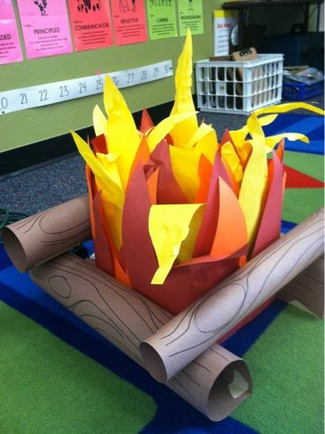 I love the idea of telling stories around a campfire! Great for oral language development. Here's one you can make for indoors!