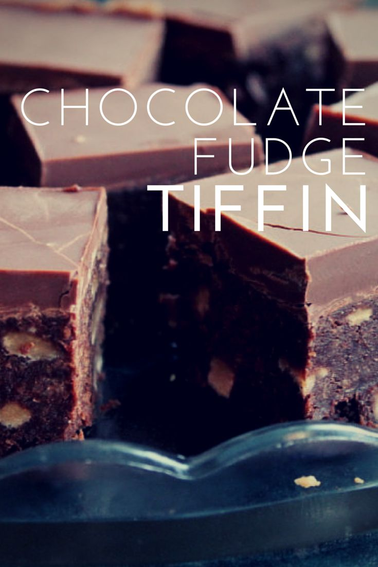 Chocolate Fudge Tiffin, no bake cake, recipe, baking