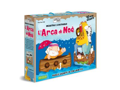 Puzzle gigante 3D Sassi Junior, Costruisci l'Arca di Noè!