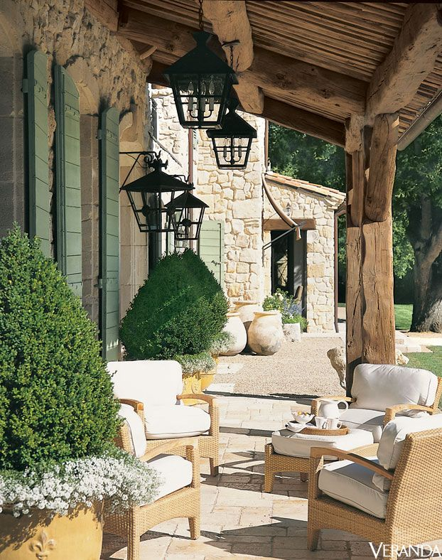 Atlanta-based designer Ginny Magher's farmhouse in Provence.:
