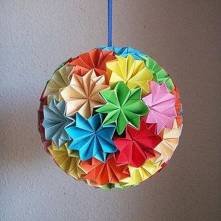 クリスマス 折り紙 折り紙 くす玉 折り方 : pinterest.com