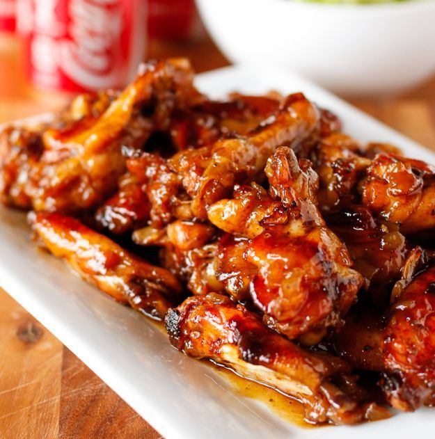 Coca-Cola Baked Chicken Wings | Tasty Chicken Recipes Packed With Flavor, see full recipes at    http://homemaderecipes.com/chicken-wings-recipes/