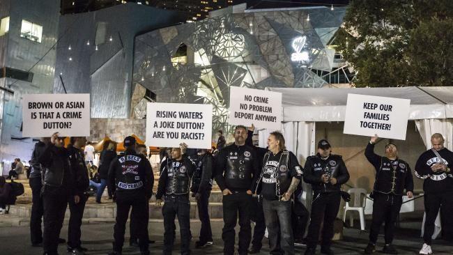Outlaw bikie members protest at Federation Square | HeraldSun