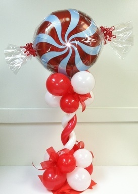74 best images about balloon bouquets creations on pinterest for Candy cane balloon sculpture