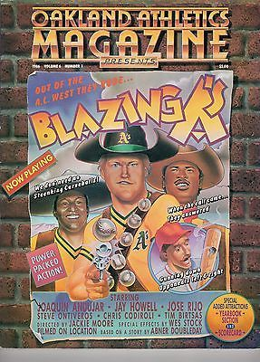 1986 Oakland Athletic Magazine Blazing A's