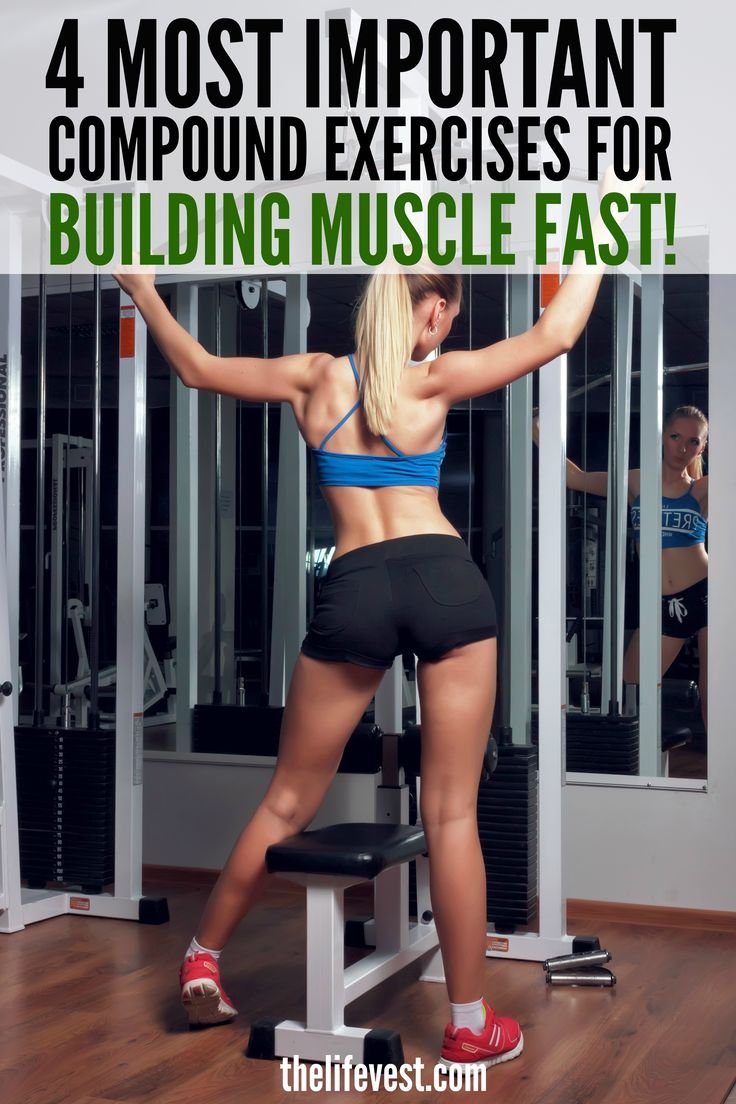Compound exercises are one of the most crucial elements to building muscle fast and are much more beneficial than isolation exercises. Next time you're at the gym, try these instead to make the most of your workout!