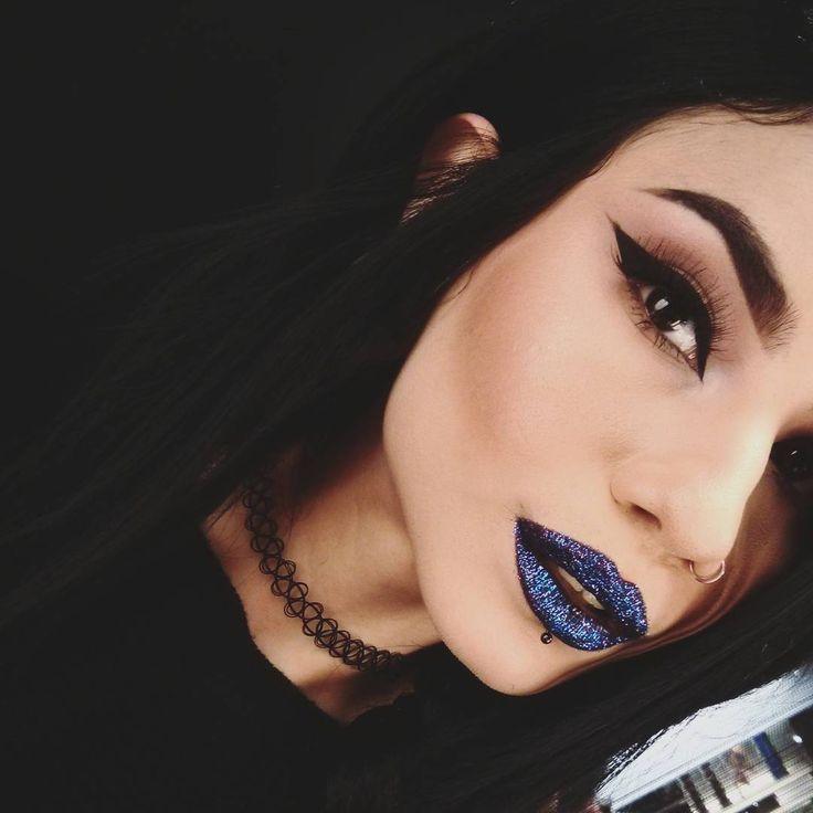 Goth makeup dark makeup kiss makeup inspo eye makeup beauty makeup gothic nails gothic beauty dark beauty
