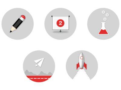 Flat Icons / Flat Design / Icons