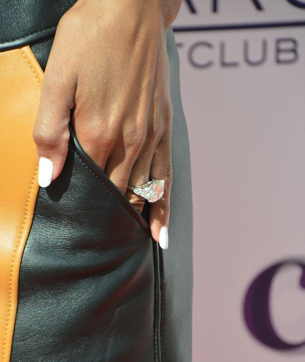 So...Ciara's engagement ring from Russell Wilson is HUGE. Click for more pictures and details including carat count.