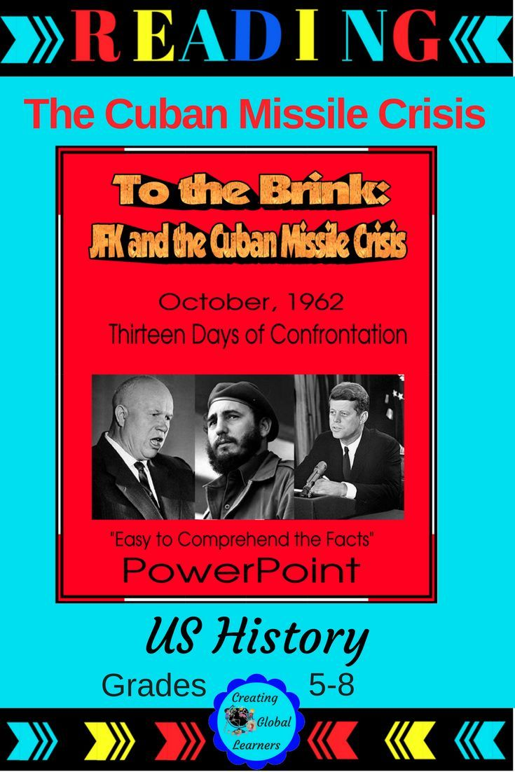 This PowerPoint shows the causes of the Cuban Missile Crisis, and familiarizes students with the leaders of the United States, Russia, and Cuba in 1962. Students will be able to visually see the events that almost led up to a World War.|U.S. History|World History|Cuban Missile Crisis|JFK|#CubanMissileCrisis #JFK
