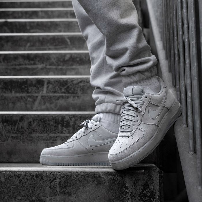 Nike Air Force 1 07 Lv8 3 Wolf Grey Suede Womens Fashion Sneakers Nike Sneakers Outfit Nike Fashion Shoes