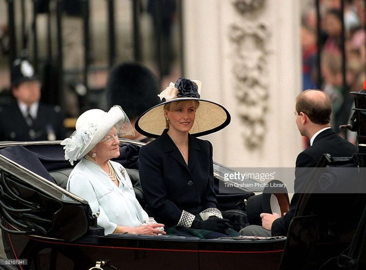 The Queen Mother With Prince Edward And Sophie Rhys-jones In The... News Photo | Getty Images