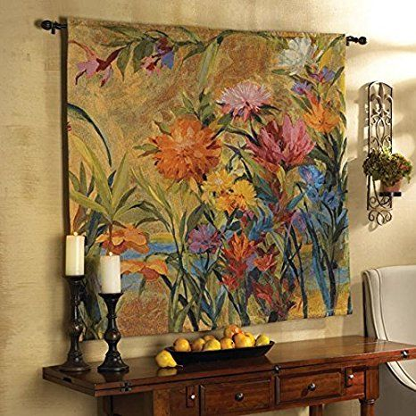 Martha Collins Wall Hanging Floral Tapestry - Large      Use beautiful wall tapestry hangings to create your dream  space. Use wall hangings to bring color.  Life and texture to your room.  Furthermore you can gain many different types of home décor ideas and  inspiration from the proper piece of modern wall art. These decorative home accents are the epitome  of beautiful, trendy and timeless.
