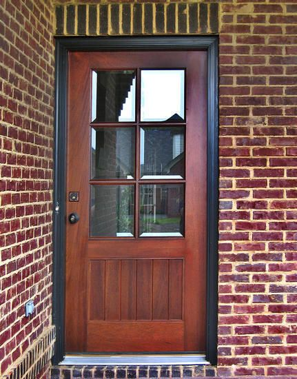 Dbyd 4003 this is a simple craftsman style door shown in for Front door styles