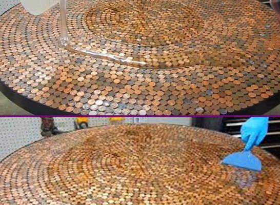 The 25+ Best Penny Table Tops Ideas On Pinterest   Penny Table, Pennies  Crafts And Bar Top Tables