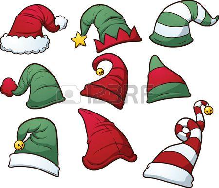 Sombreros de la Navidad clip art Foto de archivo