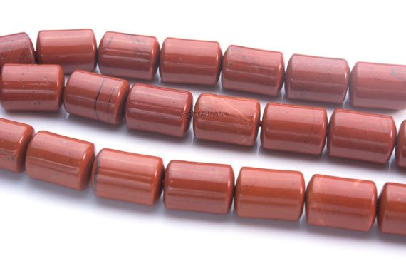 red jasper unique beads - wholesale gemstone beads -  beads for making jewelry -  beads to make jewelry -  drum beads - size14x10mm -15ich