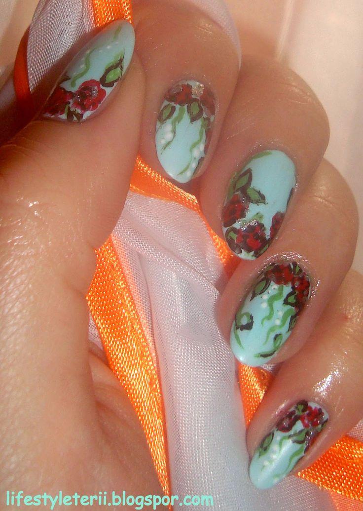 Kolorowy Świat Terii: Wiosna na całego :) miętowy Rimmel i róże