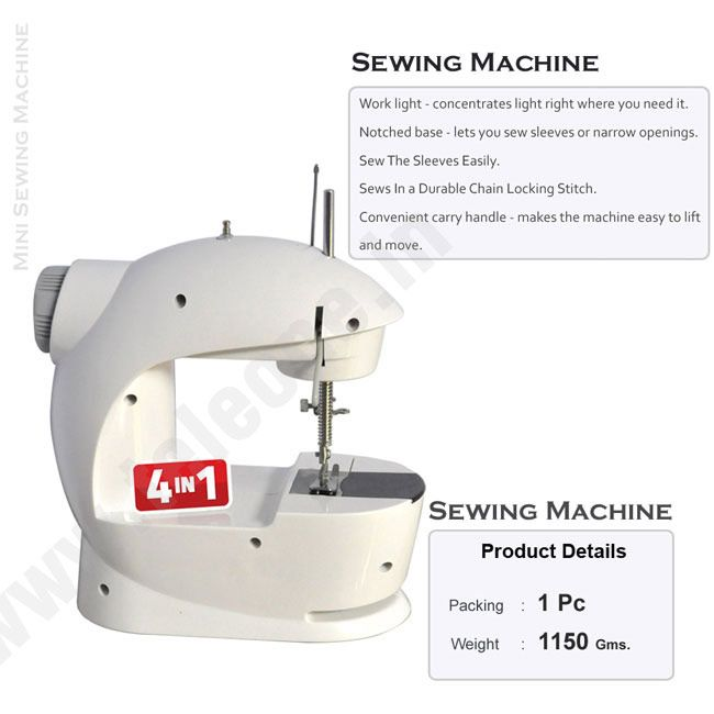 Mini Sewing Machine 4-in-1 From Teleshop  - 24*7 Home Shopping channel In India.