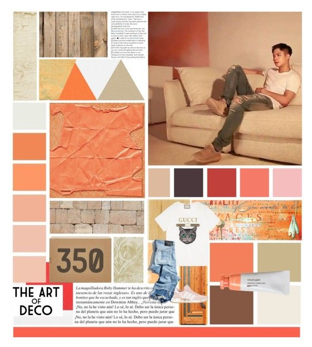 """""""Coral Color Palette - Jackson Wang"""" by missmodel13 ❤ liked on Polyvore featuring Whiteley, Thomasville, Gucci, R13 and adidas"""